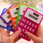 Ultra Slim Mini Soft Silicone LCD Solar Powered Calculator Touch Screen 8 Digit