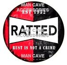RATTED Rat Rod Rust is Not a Crime Vinyl Decal Sticker 4364