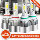 9005 HB3 9006 HB4 LED Headlight Kits Hi/Low Beam Bulbs For Toyota Rav4 2012-2006