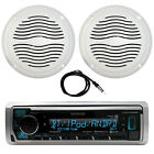 "Marine Bluetooth Radio, 2x 5"" Waterproof Speakers (White), Antenna - 40 """