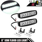 2PACK- Black Marine IP67 LED light 18w LED Boat Lights T-Top Lights (FLOOD BEAM)