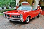 1966 Pontiac GTO Convertible Fully Restored 4-Speed w/ Bucket Seats Power Steering & Brakes New Red Line Tires