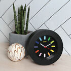 MINISO Rainbow Round Battery Table Clock Black Bedside Decoration Colorful e_c