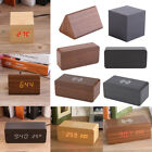 Electronic Digital Wooden LED USB Alarm Clock Sounds Control Temperature Desktop