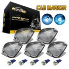 Smoke Roof Running Light Cab Marker Cover +Ice Blue 168 5050 LED Bulb for Ford