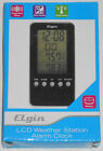 Elgin LCD Weather Station Alarm Clock PN#3412E, Never Used