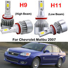 4x H9 H11 LED Headlight Kits Bulbs For Chevrolet Malibu 2007 High Low Beam 6000K