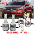 4PCS H11 9005 HB3 CREE LED Headlight Kits Bulbs For Chevrolet Traverse 2012-2010