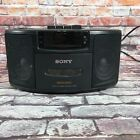 Sony ICF-CS660 Dream Machine AM / FM Clock Alarm Radio Cassette Player Black