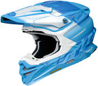 Shoei VFX-EVO Zinger Helmet White/Blue MX Enduro BMX MTB All Sizes