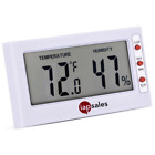 Easy to Read: Indoor Digital Thermometer and Humidity Meter. Large Digital Displ