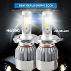 2PCS H4 9003 LED Headlight Kit Bulbs Hi/Lo Beam For Mazda Protege 2003-2001 Lamp