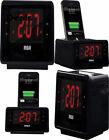 RCA Dual Alarm Clock iPod Charging Station with Digital FM Radio Tuner,...