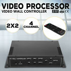 2x2 TV22 4 Channel Video Wall Controller HDMI Outputs VGA MPG 1080P All-format
