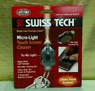 Swiss Tech Micro LED Light Touch Screen Cleaner Keychain Multi Tool NEW