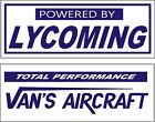 Two Banners -  Powered by Lycoming  & Vans Aircraft
