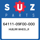 64111-09F00-000 Suzuki Hub, Rr Wheel, r New Genuine OEM Part