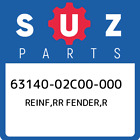 63140-02C00-000 Suzuki Reinf, Rr Fender, r New Genuine OEM Part