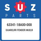 63341-18A00-000 Suzuki Guard, Rr Fender Mud, r New Genuine OEM Part