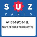 64130-02C00-13L Suzuki Cover, Rr Brake Drum(Silver) New Genuine OEM Part