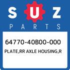 64770-40B00-000 Suzuki Plate, Rr Axle Housing, r New Genuine OEM Part