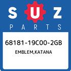 68181-19C00-2GB Suzuki Emblem,katana 6818119C002GB, New Genuine OEM Part