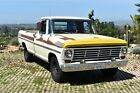 "1967 Ford F-250 Chrome 1967 Ford F250 Ranger Pickup Truck, begs for paint job ""The Butterfly"" Clean St8"