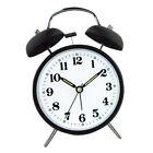 Bell Alarm Clock Twin Ringing Quartz Clock Timer Chime 6inch Dia Round White