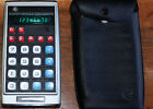 Vintage Commodore 9D-23 Electronic Calculator - Green LED - Soft Case