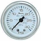 Faria Marine Chesapeake Stainless & White Outboard Water Pressure Gauge 0-30 PSI