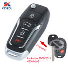 Upgraded Folding Remote Key Fob 433MHz G for Autralian Toyota Aurion 2006-2011
