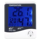 Digital Humidity Meter Thermometer Hygrometer LCD Temperature Indoor Mini Clock