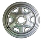 "HiSpec 15"" 5 x 4.5 Silver Steel Trailer Wheel With Valve Stem 2150#"