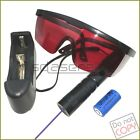 P304 405nm Adjustable Focus Blue Violet Laser Pointer Battery& Charger & Goggles