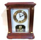 SEIKO  Westminster Whittington Quartz Wood Mantel Clock with Turning Balance
