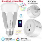 Wifi Smart E27 Multi-Color LED Light Bulb + Smart Plug Outlet Switch APP Control