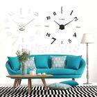 Modern Art 3D Number Wall DIY Clock Mural Sticker Home Office Decor Decal Craft