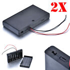 2PCS 8 AA Battery 12V Storage Holder Box Case with ON-OFF Switch 15cm Wire