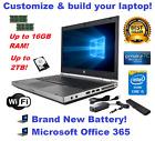 HP EliteBook 8470P LAPTOP WINDOWS 10 WIN DVD+RW INTEL i5 2.6GHz 16GB SSD HDD PC