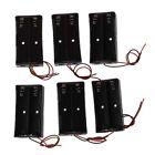 6 Pcs Black Plastic 2 x3.7V 18650 Type Battery Holder Box Case B6N3