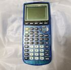 Texas Instruments TI-83 Plus Graphing Calculator Translucent Blue Tested Nice