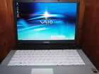 SONY VAIO 15 INCH LAPTOP WITH DVD/CD-ROM, SILVER, RESTORED TO FACTORY SETTINGS