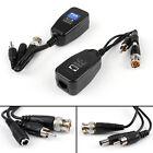4Pair CCTV Coax BNC Video DC Power RCA Audio Balun Transceiver Supply to CAT5e 6