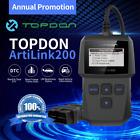TOPDON AL200 OBD2 CAN Engine Universal Car Code Reader Scanner Diagnostic Tool