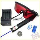 B303  450nm Adjustable Focus Blue Laser Pointer & Star & Battery&Charger&Goggles