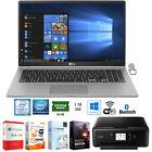"LG gram 15.6"" Intel i7-8550U Ultra-Slim Touch Laptop +Software +Printer Bundle"