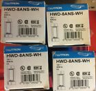 NEW! Lutron HWD-8ANS-WH White Homeworks Maestro Wired Wall-Mount Switch x4