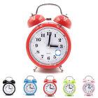 Classic Silent Cute Round Alarm Clock Desktop Table Bedside Clocks Decor Grace