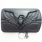 Eagle Hawk Emblem Black Skull Foot Large Brake Pedal For Softail FLSTN Black