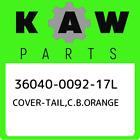 36040-0092-17L COVER-TAIL,C.B.ORANGE Kawasaki, New Genuine Part
